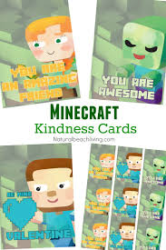 minecraft printables free random acts of kindness cards natural