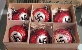Czech Awesome Christmas Decorations with Swastikas will Cause Many