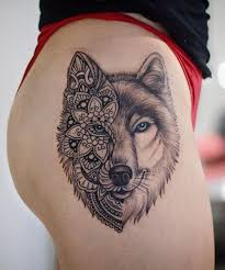 mandala wolf designs for i like the placement