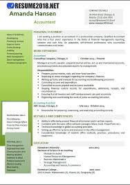 accounting resume templates accountant resume exles 2018 resume 2018