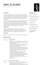 event manager resume sample planner resume event manager resume