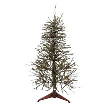 3 pre lit vienna twig table top artificial tree clear