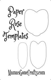 paper paper rose printable template