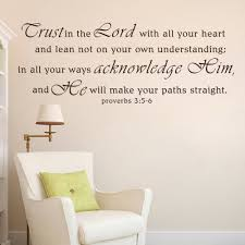 compare prices on proverbs 3 online shopping buy low price christian wall decal scripture sticker vinyl wordstrust in the lord with your heart