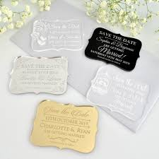 unique save the dates engraved acrylic wedding mini save the date cards unique save