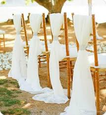 Chair Sashes 2017 White Beige Wedding Chair Sashes With Diamond Buckle Wedding