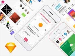 design social network app ui kit sketch freebie designermill