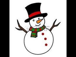 easy kids drawing lessons draw snowman step step