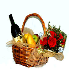flower baskets wine and fruits flower baskets cbf flowers gift