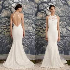 low back wedding dresses backless wedding dresses vintage lace mermaid bridal gowns
