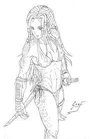 drawn predator jedi pencil and in color drawn predator jedi