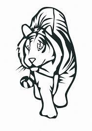 attractive wild tiger coloring pages womanmate com