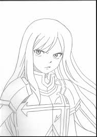 incredible fairy tail erza coloring pages with fairy tail coloring