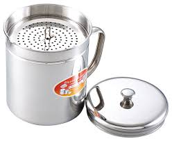 stainless steel oil storage pot contemporary kitchen canisters