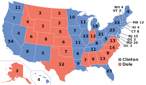 Free Map Of The United States by United States Presidential Election 1996 Wikipedia