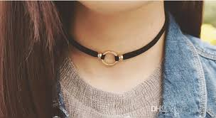 leather choker chain necklace images Punk japan leather chokers fashion simple 2 layered collar jpg