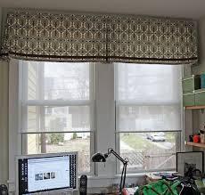 interior window valance ideas beige kitchen curtains bed bath