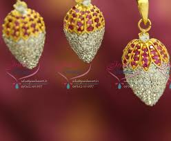 trendy gold earrings ps3257 cz ruby white pineapple design gold plated fancy trendy