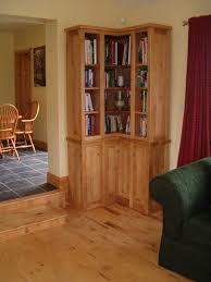 Corner Bookcase Oak Michael Doyle Handcraft Interiors Galway Custom Furniture And