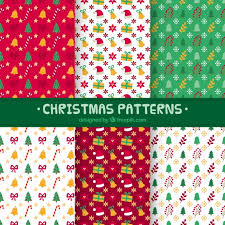 christmas pattern red green collection of christmas patterns in red green and white vector