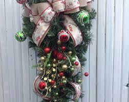 teardrop wreath etsy