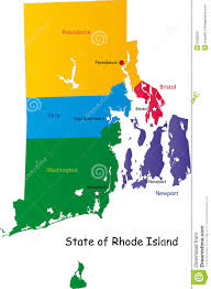 Rhode Island On Map Map Of Rhode Island State Royalty Free Stock Photo Image 9308225