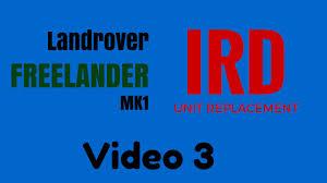 landrover freelander ird unit installation pre 2001 petrol vid 3