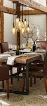 dining room decor ideas rust farmhouse style with natural wood