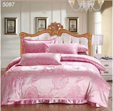 Silk Duvet Cover Queen Pink Flowers Silk Bedspreads King Size Silk Bedding Sets Satin