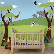 jungle safari theme kids wall mural stencils jungle wall mural