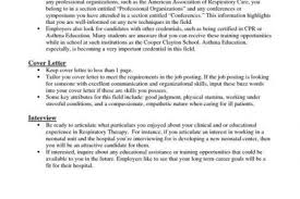 Occupational Therapy Resume New Grad Registered Respiratory Therapist Cover Letter