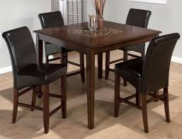 baroque brown mosaic inlay counter height dining table from jofran
