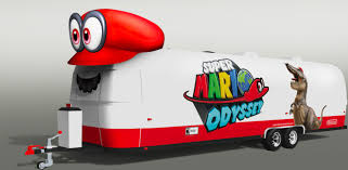 mario journeys across the country to celebrate the launch of super