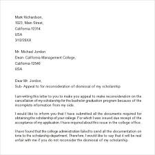 appeal letter sample sample financial aid appeal letter