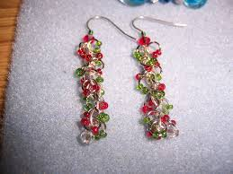 christmas earrings dangle christmas earrings by silverwind723 on deviantart