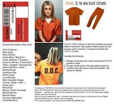 Orange Black Halloween Costumes Orange Black Womens 2 Pc Prison Costume Cosplay Inmate