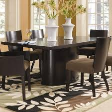 chair aubriella 5115 92 modern 7pcs cherry leaf pedestal dining