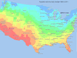Albuquerque Zip Code Map Map Here Are The Parts Of The Us That Get The Most Sunshine