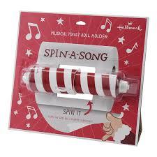 amazon com hallmark holiday musical toilet roll holder toys u0026 games
