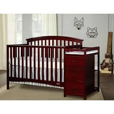 crib with changing table burlington cherry wood crib ncgeconference com