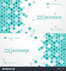 medical business card template vector illustration stock vector