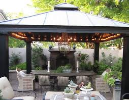 Gazebos For Patios Gravel Patio Wicker Chairs Raised Flower Beds With Fireplace
