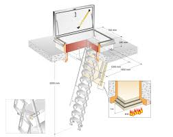 roof amazing roof hatch ladder attic ladder dimensions google