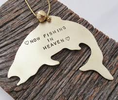 personalized remembrance ornaments now fishing in heaven personalized memorial ornament c and t