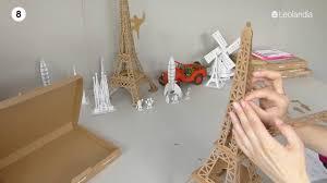leolandia cardboard eiffel tower assembly youtube