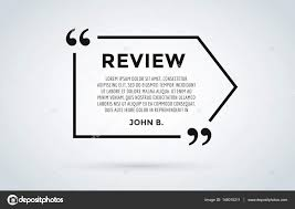 website review quote citation blank template vector icon comment