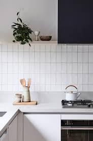 stacked kitchen backsplash stack bond tile centsational style