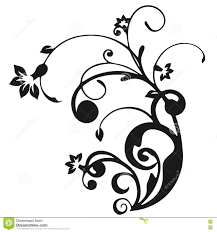 decorative stencil floral ornament stock illustration image