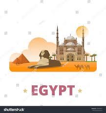 egypt country design template flat cartoon stock vector 439380637