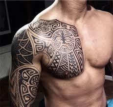 tribal chest tattoomodels ideas